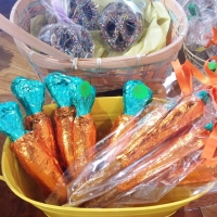 Foil Wrapped Chocolate Easter Carrots