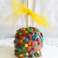 Gourmet Apple Chocolate M and M Theme