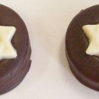 Gourmet Chocolate Star of David Oreo Cookies