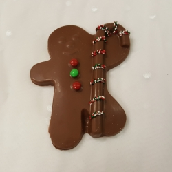 Christmas Chocolate Candy Cane and Gingerbread Man