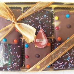 Gourmet Chocolate Covered Graham Crackers Holiday Christmas Gift Boxed