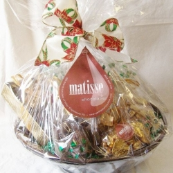 Gourmet Chocolate Filled Large Round Corporate Gift Basket