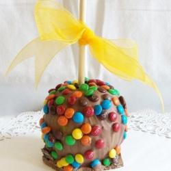 Gourmet Apple Chocolate M and M Theme