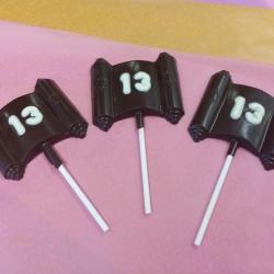 Gourmet Chocolate Bat Mitzvah 13 Scroll Lollipop Dark