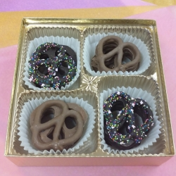 Gourmet Chocolate Gift Boxed Pretzels Mixed