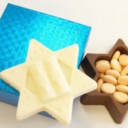 Gourmet Chocolate Star of David Box Filled