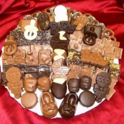 Custom Made Baby Shower Chocolate Platter 14 Inch