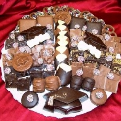 Custom Made Graduation Theme Chocolate Platter 14 Inch