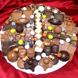 Custom Made Sports Theme Chocolate Platter 14 Inch