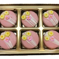 2018013 Pink Flower Favor Cookies
