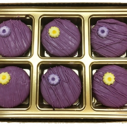 2018014 Purple Flower Favor Cookies