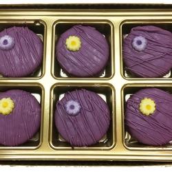 2018014 Purple Flower Favor Cookies