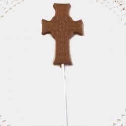 Communion Confirmation Cross Lollipop Style #4 Milk