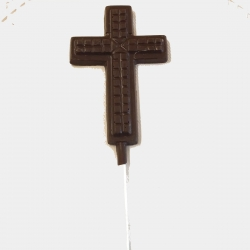 Communion Confirmation Cross Lollipop Style #5 Dark