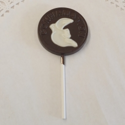 Communion Confirmation Dove Lollipop Dark Chocolate