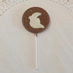 Communion Confirmation Dove Lollipop Milk Chocolate