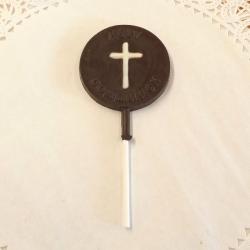 Communion Cross Lollipop Dark Chocolate
