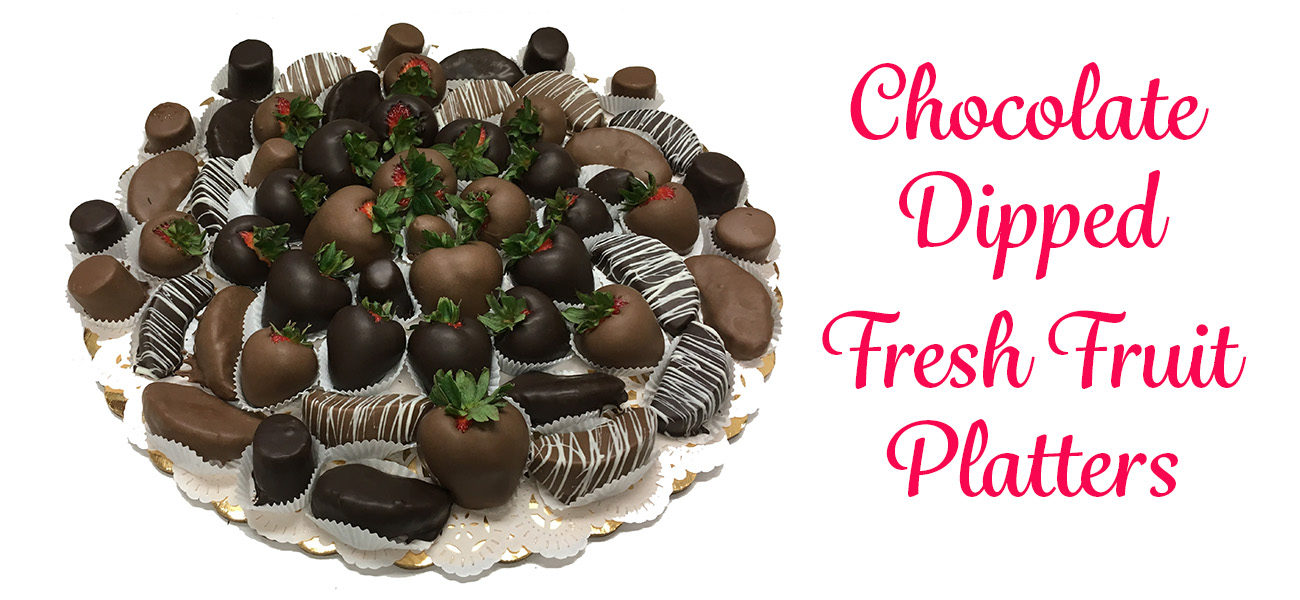 Chocolate Dipped Fresh Fruit Platters