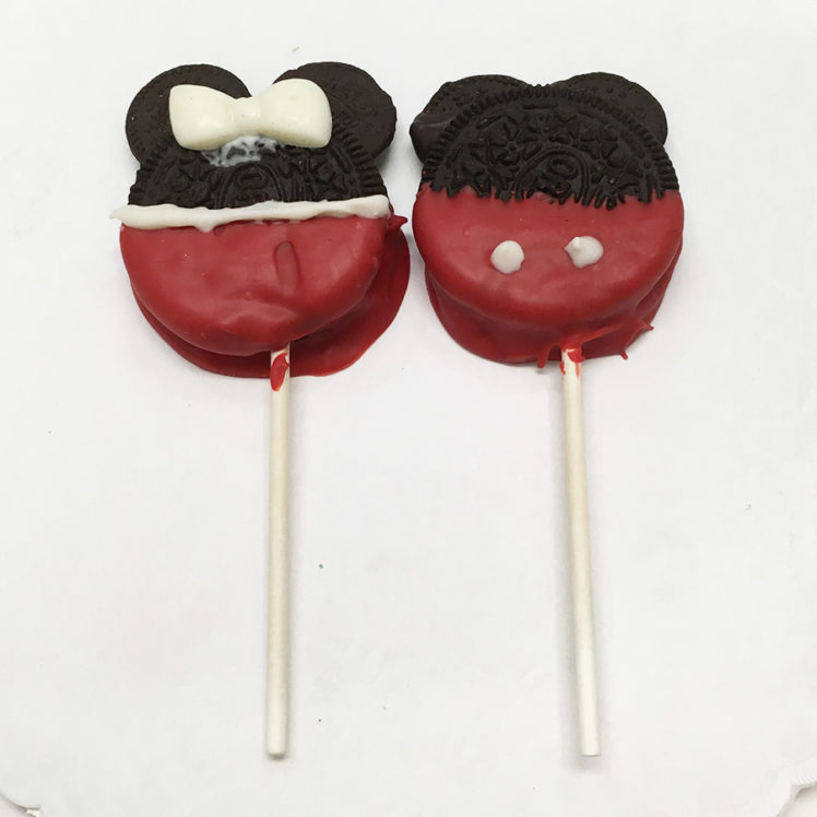 Mickey and Minnie Cookie Pops