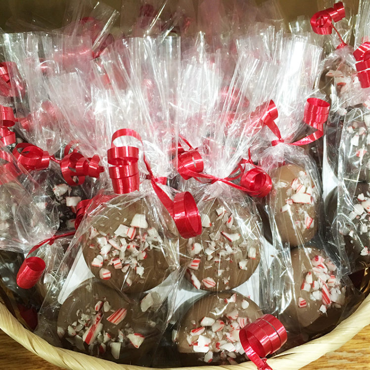 Peppermint Chocolate Dipped Cookies